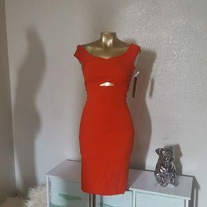 Tangerine cutout body on dress xsmall